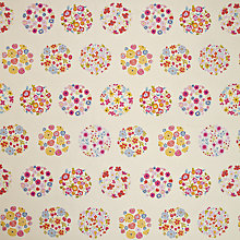 Buy John Lewis Flower Power Fabric, Pink Online at johnlewis.com