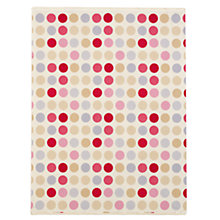 Buy John Lewis Patterned Spot Fabric, Pink Online at johnlewis.com