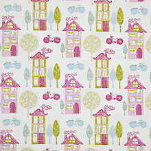 Buy John Lewis My House Fabric, Pink Online at johnlewis.com