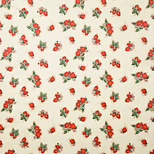 Buy John Lewis Strawberry Fields PVC Tablecloth Fabric, Red Online at johnlewis.com