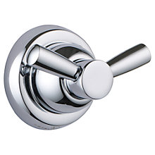 Buy Perrin & Rowe Double Robe Hook, Chrome Online at johnlewis.com