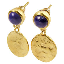 Buy Azuni Cleo 24ct Gold Plated Disc Drop Earrings Online at johnlewis.com