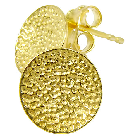 Buy Azuni Luna 24ct Gold Plated Plain Studs Online at johnlewis.com