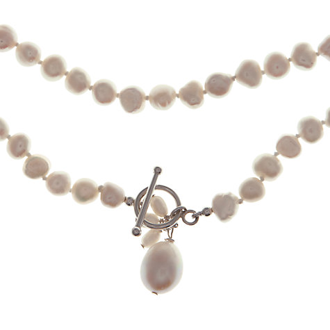 Buy Claudia Bradby Long Pearl Rope Necklace, White Online at johnlewis.com