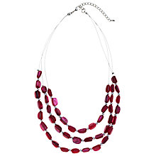 Buy John Lewis Raspberry Nugget Multi-strand Necklace Online at johnlewis.com