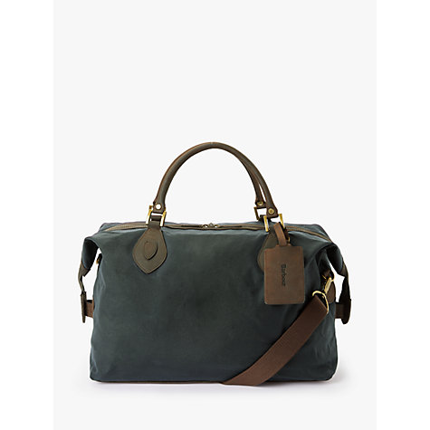 Buy Barbour Wax Cotton Travel Explorer Bag Online at johnlewis.com