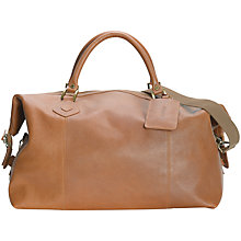 Buy Barbour Leather Medium Explorer Holdall Online at johnlewis.com