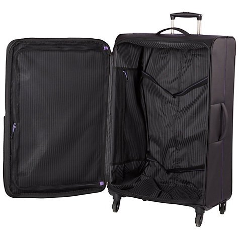 Buy John Lewis X'Air 2 4-Wheel 56cm Cabin Suitcase, Black/Purple Online at johnlewis.com