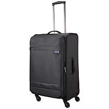 Buy John Lewis X'Air 2 4-Wheel 67cm Medium Suitcase, Black/Purple Online at johnlewis.com