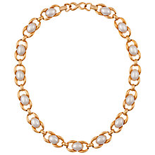 Buy Eclectica Vintage 1980s Napier Gold Plated Faux Pearl Double Clasp Necklace Online at johnlewis.com