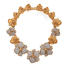 Buy Eclectica 1980s Gold Plated Rhinestone Set Flower Necklace Online at johnlewis.com