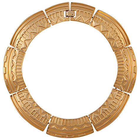 Buy Eclectica 1980s Monet Gold Plated Aztec Collar Necklace Online at johnlewis.com