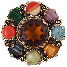 Buy Eclectica Vintage 1970s Miracle Gold Plated Faux Agate Round Brooch, Multi Online at johnlewis.com