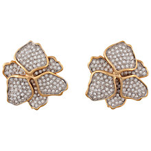 Buy Eclectica 1980s Gold Plated Rhinestone Set Flower Earrings Online at johnlewis.com