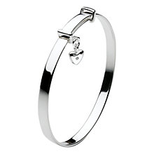 Buy Kit Heath Girls Dinky Heart Sterling Silver Expanding Bangle Online at johnlewis.com