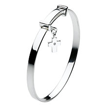 Buy Kit Heath Kids Dinky Cross Sterling Silver Expanding Bangle, Silver Online at johnlewis.com
