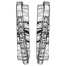 Buy Dyrberg/Kern Lyra Hammered Finish Swarovski Crystal Ear Posts Online at johnlewis.com
