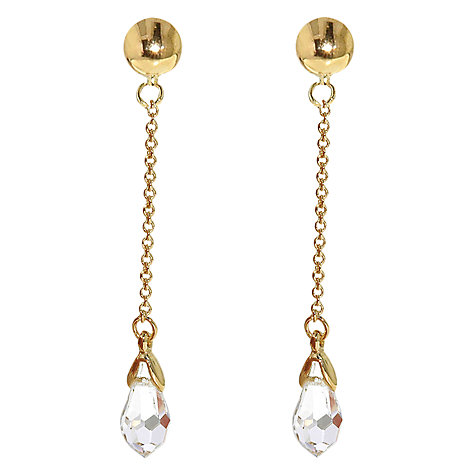 Buy Finesse Swarovski Crystal Chain Drop Clip Earrings Online at johnlewis.com