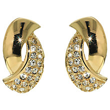 Buy Finesse Swarovski Crystal Twist Clip-On Earrings Online at johnlewis.com