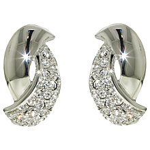 Buy Finesse Rhodium Plated Swarovski Crystal Twist Clip Earrings Online at johnlewis.com