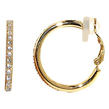 Buy Finesse Swarovski Crystal Hoop Clip Earrings Online at johnlewis.com