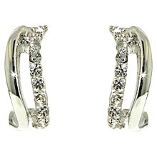 Buy Finesse Swarovski Crystal Wave Stud Earrings Online at johnlewis.com