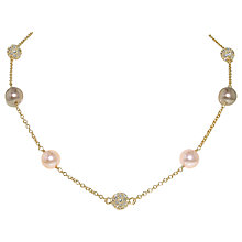 Buy Finesse Pearl and Swarovski Pave Ball Necklace Online at johnlewis.com