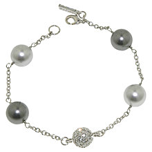 Buy Finesse Pearl and Pave Swarovski Ball Bracelet Online at johnlewis.com