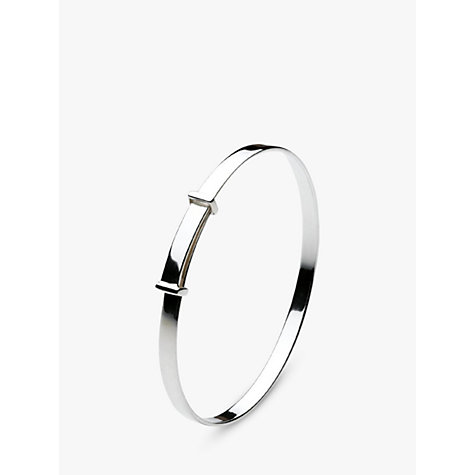 Buy Kit Heath Simple Kids Christening Bangle, Silver Online at johnlewis.com