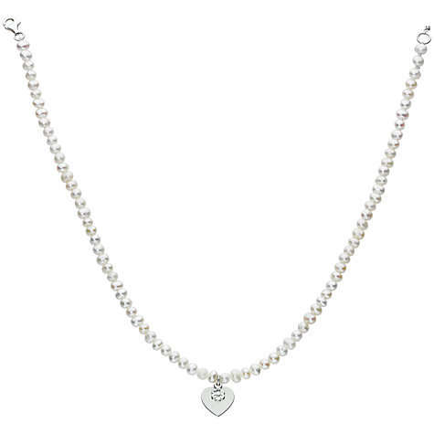 Buy Kit Heath Kids Freshwater Pearl and Silver Heart Necklace Online at johnlewis.com