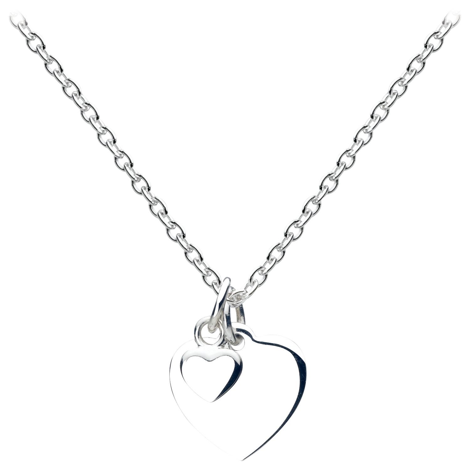 Sterling Silver Christening Silver Heart Pendant Necklace