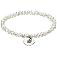 Buy Kit Heath Kids Freshwater Pearl and Silver Heart Bracelet, Silver Online at johnlewis.com