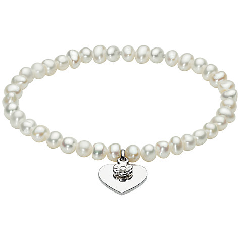Buy Kit Heath Kids Freshwater Pearl and Silver Heart Bracelet Online at johnlewis.com