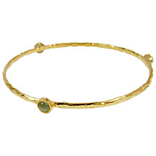 Buy Azuni 24ct Gold Plate Amazonite Hammered Bangle Online at johnlewis.com