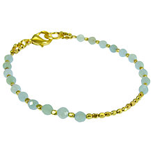 Buy Azuni 24ct Gold Plate Amazonite Round Bracelet Online at johnlewis.com