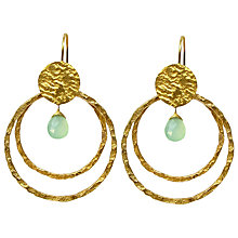 Buy Azuni 24ct Gold Plate Double Circle Amazonite Drop Earrings Online at johnlewis.com