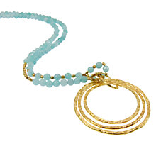 Buy Azuni 24ct Gold Plated Triple Pendant Necklace Online at johnlewis.com