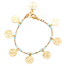 Buy Azuni Cleo 24ct Gold Plate Coin Bracelet Online at johnlewis.com