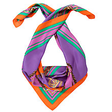 Buy Lauren by Ralph Lauren  Melissa Silk Square Scarf, Purple Online at johnlewis.com