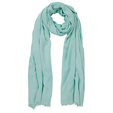 Buy John Lewis Light Weight Viscose Scarf, Aqua Green Online at johnlewis.com