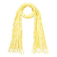 Buy Collection WEEKEND by John Lewis Crinkle Cotton Textured Scarf, Light Yellow Online at johnlewis.com