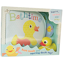 Buy Bath Book and Squirting Duck Toy Set Online at johnlewis.com