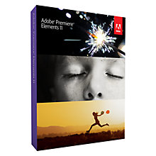 Buy Adobe Premiere Elements V11, Video Editing Software Online at johnlewis.com