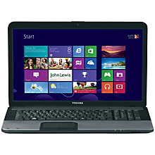 "Buy Toshiba Satellite C875-150 Laptop, Intel Pentium B960, 2.2GHz, 8GB RAM, 1TB, 17.3"", Silver Online at johnlewis.com"