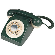 Buy Wild and Wolf 746 1960'S Corded Telephone, Dark Green Online at johnlewis.com