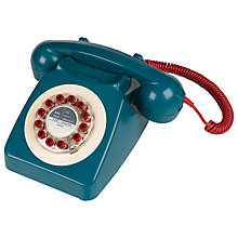 Buy Wild and Wolf 746 1960'S Corded Telephone, Petrol Online at johnlewis.com