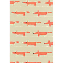 Buy Scion Mr Fox PVC Cut Length Tablecloth Fabric, Matt Orange Online at johnlewis.com