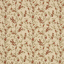 Buy Voyage Brevia Fabric, Red Nut Online at johnlewis.com