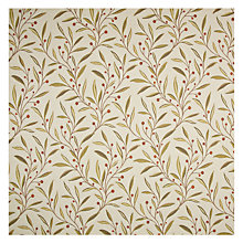 Buy John Lewis Guelder Furnishing Fabric, Berry Red Online at johnlewis.com
