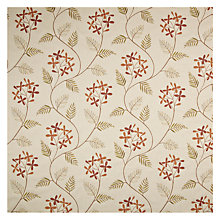 Buy John Lewis Leaf Sprig Furnishing Fabric, Red Online at johnlewis.com